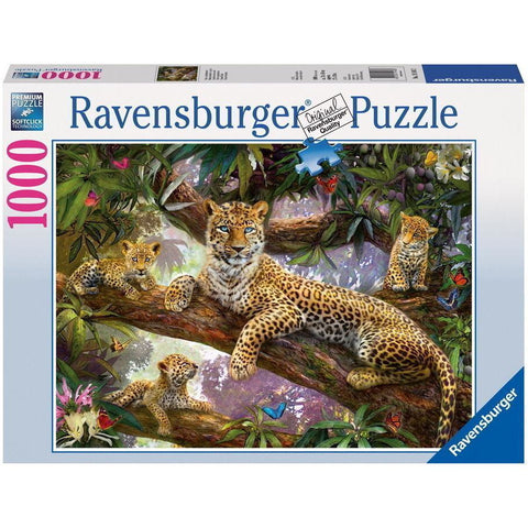 Rburg - Leopard Family Puzzle 1000pc