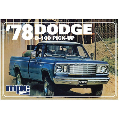 MPC 1/25 1978 Dodge D100 Custom Pickup 2T Plastic Kit
