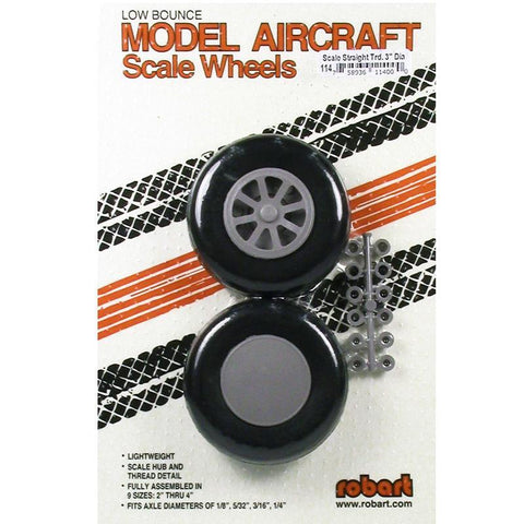 ROBART SCALE WHEELS: 3.0 INCH X-TREAD