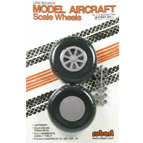 Image of ROBART SCALE WHEELS: 3.25 INCH X-TREAD