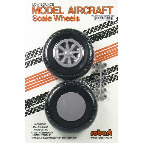 Image of ROBART SCALE WHEELS: 3.5 INCH X-TREAD