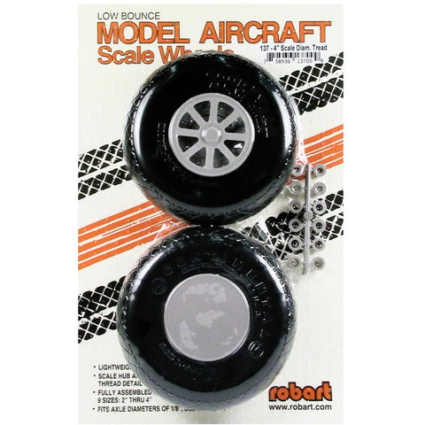 Image of ROBART SCALE WHEELS: 4 INCH X-TREAD