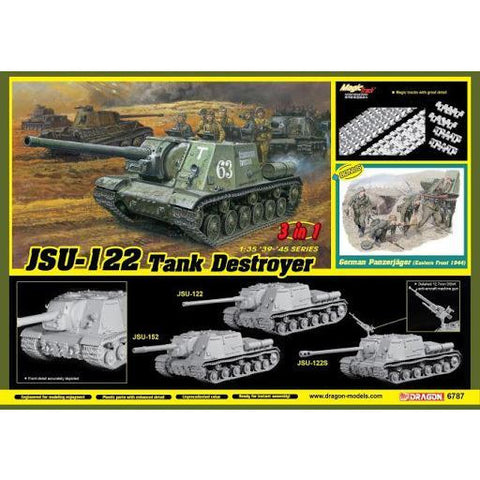 DRAGON 1/35 JSU-122 Tank Destroyer (3 in 1) Plastic Model Kit