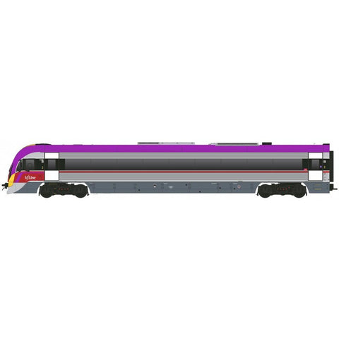 SOUTHERN RAIL V/LINE VL42 | Purple, Red & Yellow 3 Car Set