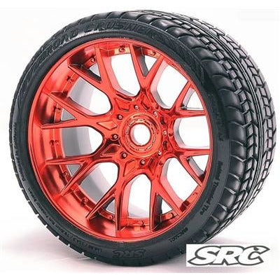 SWEEP Road Crusher On Road Tire 1/2 Offset RED