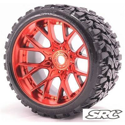 SWEEP Terrain Crusher Off Road Tire 1/2 Offset Red