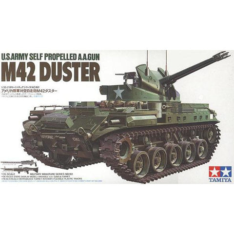 TAMIYA M42 Duster W/3 figures 1:35 Scale