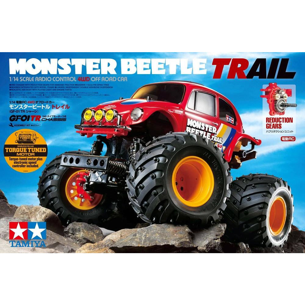 TAMIYA Monster Beetle Trail 2WD R/C Assembly Kit 1:14 Scale, GF-01TR Chassis (T58672)