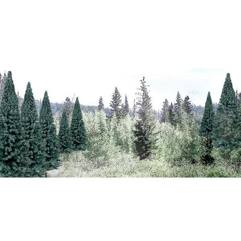 "WOODLAND SCENICS 2""- 4"" Ready Made Blue Spruce Value Pack (18/Pk)"