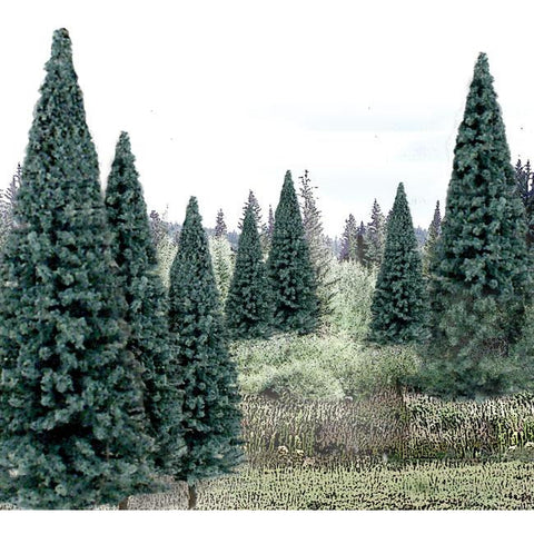 "WOODLAND SCENICS 4""- 6"" Ready Made Blue Spruce Value Pack (13/Pk)"