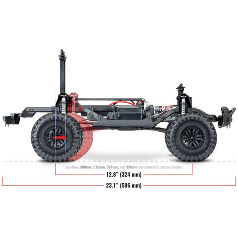 Image of TRAXXAS 1/10 TRX-4 Scale & Trail Crawler Land Rover - Red