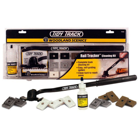WOODLAND SCENICS Tidy Track Rail Tracker Cleaning Kit (N & HO Scale)