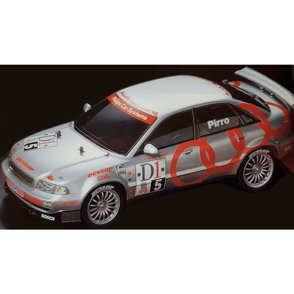 TAMIYA Audi A$ Quattro Touring Car 4WD 1:10 Scale, TT-01 Type E Chassis (T47414)