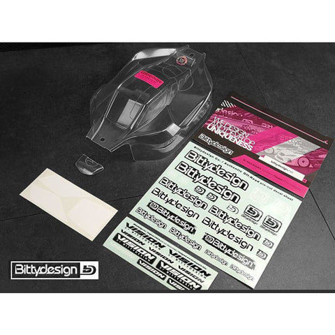 BITTYDESIGN VISION clear 1/8 buggy body HB E819RS  Pre-Cut