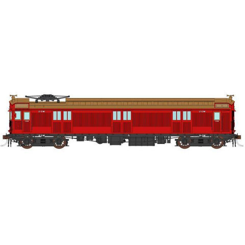 AUSCISION HO 2CM VR Carriage Red w/Spoked Wheels - Single C