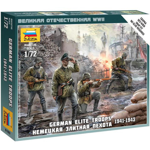 ZVEZDA 6180 1/72 German Elite Troops 1939-43 Plastic Model