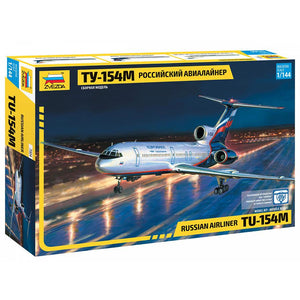 ZVEZDA 7004 1/144 Tu-154M Russian Airliner Plastic Model Ki