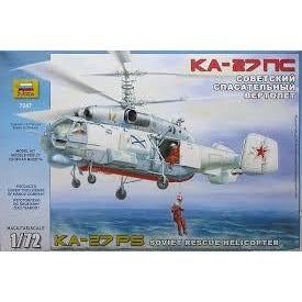 ZVEZDA 7247 1/72 KA-27 Rescue Helicopter (RR) Plastic Model