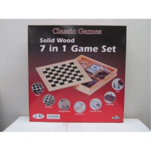 HASBRO SHUFFLE CLASSIC WOODEN 7 IN 1 FAMILY GAMES   (AA667438)