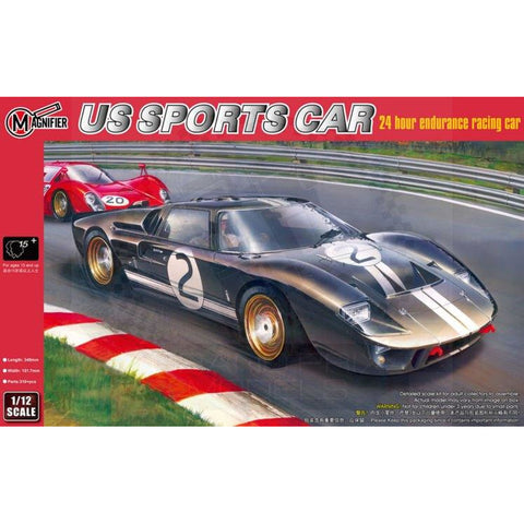 MAGNIFIER 1/12 US Sports Car 1966 Le Mans winner (GT40)