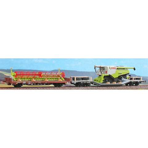 ACME Uai and Kgps Wagons Set Loaded with Combine Harvester