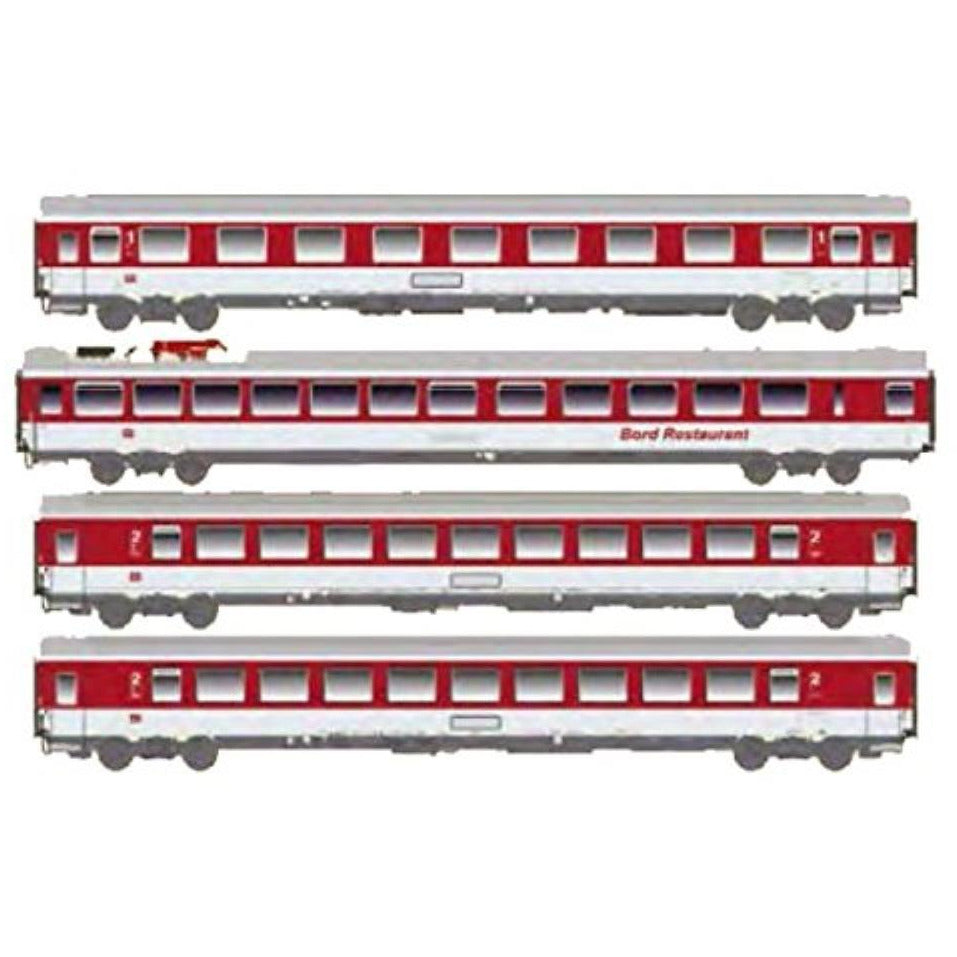 ACME German 4pc Passenger Car Set EC Blauer Enzian of the DB (AC55113)