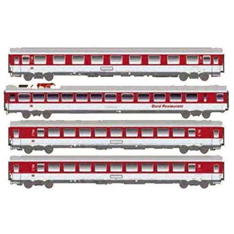 ACME German 4pc Passenger Car Set EC Blauer Enzian of the D