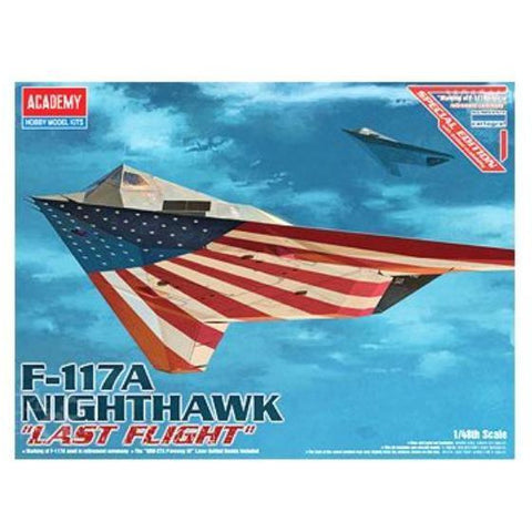 ACADEMY 1/48 F117A NIGHTHAWK LAST FLIGHT