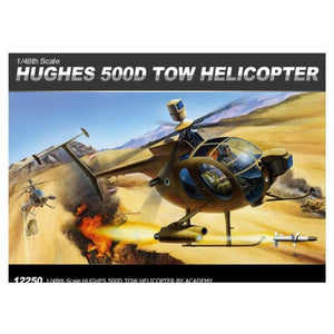 ACADEMY 1/48 Hughes 500D TOW Helicopter