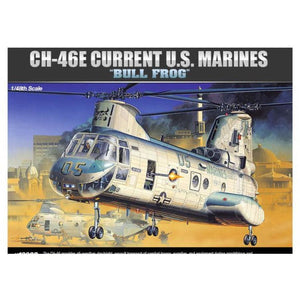 ACADEMY  1/48 CH-46 Bull Frog Sea Knight Plastic Model Kit (ACA-12283)