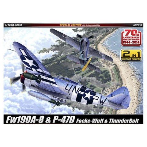 ACADEMY 1/72 P47D +FW190A8 70TH ANNIV NORMANY INVASION 1944