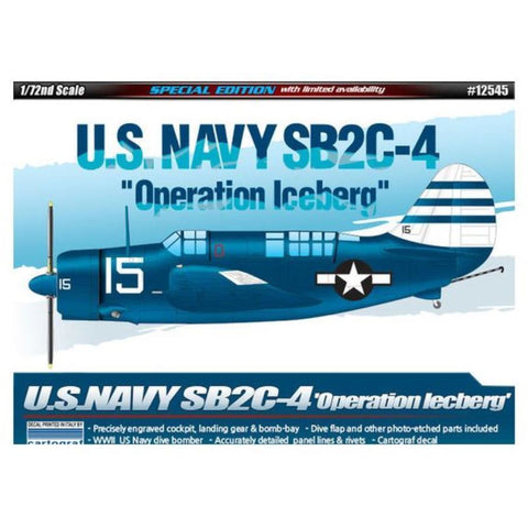 "Academy 1/72 U.S.Navy SB2C-4 ""Operation Iceberg"" LE:"