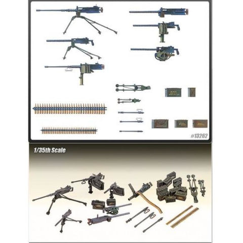 ACADEMY 1/35 FIG +TANK US WW2 MACHINE GUN SET 1384