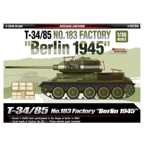 "ACADEMY 1/35 T-34/85 No.183 Factory ""Berlin 1945"""