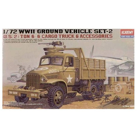 ACADEMY1/72 Us Cargotruck & Accessory Plastic Model Kit (AC