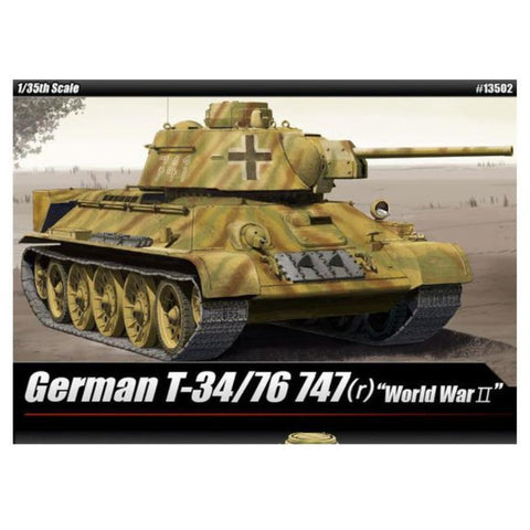 ACADEMY  1/35 German T-34/76 747 (R) Plastic Model Kit (ACA-13502)