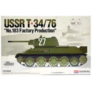 "ACADEMY  1/35 USSR T-34/76 No.183 ""Factory Production"" Plastic Model Kit (ACA-13505)"
