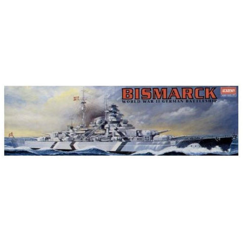 ACADEMY  1/800 Battleship Bismarck (Static) Plastic Model Kit (ACA-14218)
