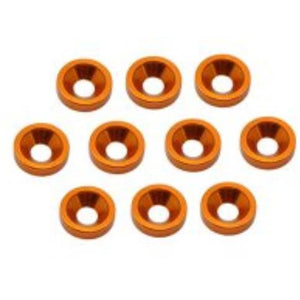 ARROWMAX Alu M3 Countersink Washer-Orange (10)(AM-020032)