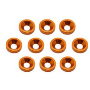 ARROWMAX Alu M4 Countersink Washer-Orange (10)(AM-020042)