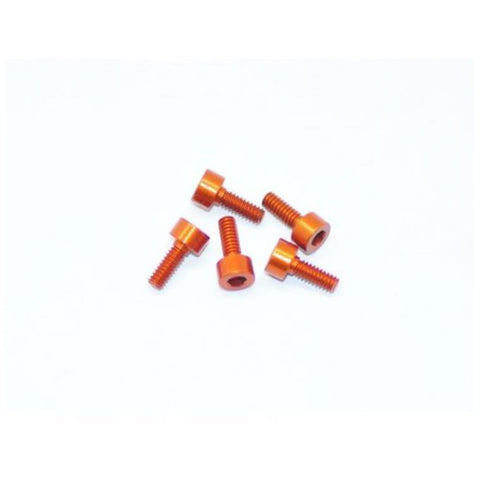 ARROWMAX Alu Screw Allen Cilinder Head M2.2X6 Orange (7075) (5) (AM-14CH2206-O)