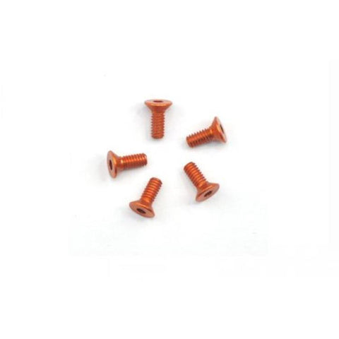 ARROWMAX Alu Screw Allen Countersunk M2.2X6 Orange (7075) (5)(AM-14CS2206-O)