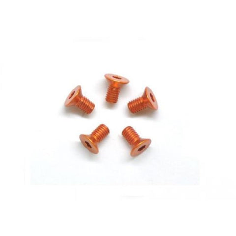 ARROWMAX Alu Screw Allen Countersunk M3X6 Orange (7075) (5)(AM-14CS3006-O)