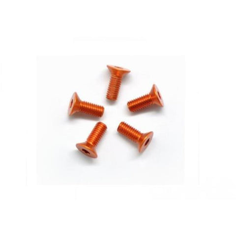 ARROWMAX Alu Screw Allen Countersunk M3X8 Orange (7075) (5)(AM-14CS3008-O)