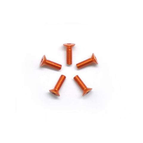 ARROWMAX Alu Screw Allen Countersunk M3X10 Orange (7075) (5)(AM-14CS3010-O)