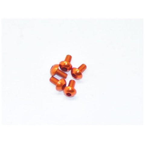 ARROWMAX Alu Screw Allen Roundhead M2X4 Orange (7075) (5) (AM-14RH2004-O)