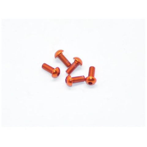ARROWMAX Alu Screw Allen Roundhead M2.5X6 Orange (7075) (5) (AM-14RH2506-O)