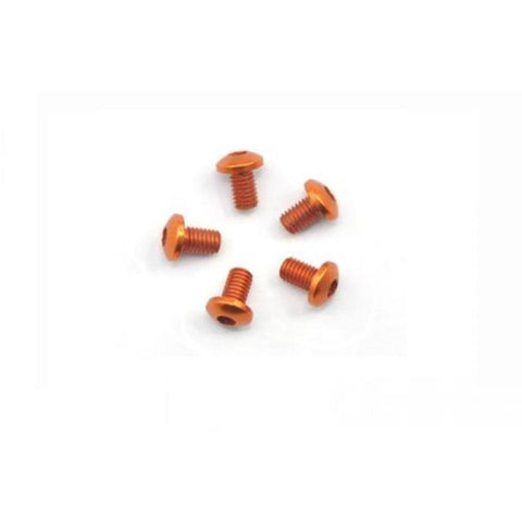 ARROWMAX Alu Screw Allen Roundhead M3X5 Orange (7075) (5) (AM-14RH3005-O)