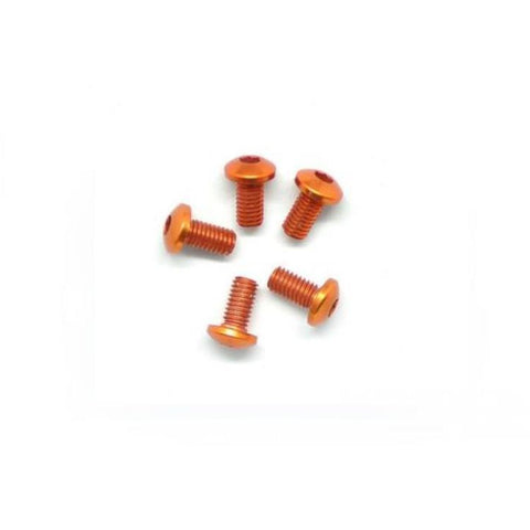 ARROWMAX Alu Screw Allen Roundhead M3X6 Orange (7075) (5) (AM-14RH3006-O)