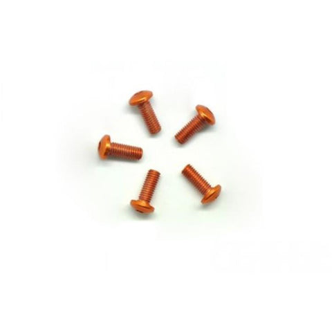 ARROWMAX Alu Screw Allen Roundhead M3X8 Orange (7075) (5) (AM-14RH3008-O)
